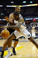 Nov 22, 2013; Memphis, TN, USA; Memphis Grizzlies power forward Ed Davis (32) and San Antonio Spurs power forward Boris Diaw (33) fight for the ball during the third quarter at FedExForum. Mandatory Credit: Justin Ford-USA TODAY Sports