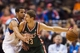 Nov 22, 2013; Philadelphia, PA, USA; Milwaukee Bucks guard Luke Ridnour (13) is defended by Philadelphia 76ers guard Michael Carter-Williams (1) during the fourth quarter at Wells Fargo Center. The Sixers defeated the Bucks 115-107 in overtime. Mandatory Credit: Howard Smith-USA TODAY Sports