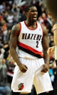 Nov 22, 2013; Portland, OR, USA; Portland Trail Blazers shooting guard Wesley Matthews (2) celebrates after the game against the Chicago Bulls at the Moda Center. Mandatory Credit: Steve Dykes-USA TODAY Sports