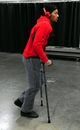 Nov 22, 2013; Portland, OR, USA;  Chicago Bulls point guard Derrick Rose (1) walks out of the Moda Center on crutches after being injured in the game against the Portland Trail Blazers. The Blazers won the game 98-95. Mandatory Credit: Steve Dykes-USA TODAY Sports