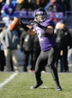 Nov 23, 2013; Evanston, IL, USA; Northwestern Wildcats quarterback Kain Colter (2) throws a pass during the first quarter against the Michigan State Spartans at Ryan Field. Mandatory Credit: Reid Compton-USA TODAY Sports