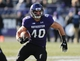 Nov 23, 2013; Evanston, IL, USA; Northwestern Wildcats fullback Dan Vitale (40) rushes the ball during the first quarter against the Michigan State Spartans at Ryan Field. Mandatory Credit: Reid Compton-USA TODAY Sports
