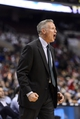 Nov 20, 2013; Philadelphia, PA, USA; Philadelphia 76ers head coach Brett Brown during the third quarter against the Toronto Raptors at Wells Fargo Center. The Raptors defeated the Sixers 108-98. Mandatory Credit: Howard Smith-USA TODAY Sports