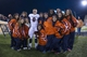 Nov 23, 2013; Denton, TX, USA; UTSA Roadrunners quarterback Eric Soza (8) poses with the cheerleaders after the game against the North Texas Mean Green at Apogee Stadium. The Roadrunners defeated the Mean Green 21-13. Mandatory Credit: Jerome Miron-USA TODAY Sports