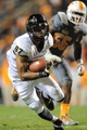 Nov 23, 2013; Knoxville, TN, USA; Vanderbilt Commodores wide receiver Jordan Matthews (87) runs the ball against the Tennessee Volunteers during the first quarter against the Tennessee Volunteers at Neyland Stadium. Mandatory Credit: Randy Sartin-USA TODAY Sports