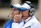 Nov 23, 2013; Hattiesburg, MS, USA; Middle Tennessee Blue Raiders head coach Rick Stockstill on the sidelines in the first quarter of their game against the Southern Miss Golden Eagles at M.M. Roberts Stadium. Mandatory Credit: Chuck Cook-USA TODAY Sports