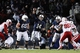 Nov 23, 2013; University Park, PA, USA; Penn State Nittany Lions quarterback Christian Hackenberg (14) throws a pass during the fourth quarter against the Nebraska Cornhuskers at Beaver Stadium. Nebraska defeated Penn State 23-20 in overtime. Mandatory Credit: Matthew O'Haren-USA TODAY Sports