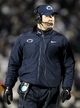 Nov 23, 2013; University Park, PA, USA; Penn State Nittany Lions head coach Bill O'Brien looks on from the sideline during the fourth quarter against the Nebraska Cornhuskers at Beaver Stadium. Nebraska defeated Penn State 23-20 in overtime. Mandatory Credit: Matthew O'Haren-USA TODAY Sports