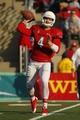 Nov 23, 2013; Fresno, CA, USA; Fresno State Bulldogs quarterback Derek Carr (4) throws a pass against the New Mexico Lobos in the third quarter at Bulldog Stadium. The Bulldogs defeated the Lobos 69-28. Mandatory Credit: Cary Edmondson-USA TODAY Sports