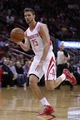 Nov 23, 2013; Houston, TX, USA; Houston Rockets small forward Chandler Parsons (25) passes the ball during the first quarter at Toyota Center. Mandatory Credit: Andrew Richardson-USA TODAY Sports