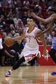 Nov 23, 2013; Houston, TX, USA; Houston Rockets point guard Jeremy Lin (7) drives to the basket during the first quarter at Toyota Center. Mandatory Credit: Andrew Richardson-USA TODAY Sports