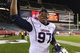 Nov 23, 2013; Philadelphia, PA, USA; Connecticut Huskies defensive end B.J. McBryde (97) celebrates after defeating the Temple Owls at Lincoln Financial Field. UCONN defeated Temple 28-21. Mandatory Credit: Howard Smith-USA TODAY Sports