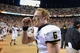 Nov 23, 2013; Knoxville, TN, USA; Vanderbilt Commodores quarterback Austyn Carta-Samuels (6) celebrates after the game against the Tennessee Volunteers at Neyland Stadium. Vanderbilt won 14 to 10. Mandatory Credit: Randy Sartin-USA TODAY Sports