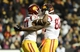Nov 23, 2013; Boulder, CO, USA; Southern California Trojans running back Javorius Allen (37) is congratulated for his touchdown by tight end Randall Telfer (82) in the second quarter against the Colorado Buffaloes  at Folsom Field. Mandatory Credit: Ron Chenoy-USA TODAY Sports