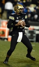 Nov 23, 2013; Boulder, CO, USA; Colorado Buffaloes quarterback Sefo Liufau (13) prepares to pass in the second quarter against the Southern California Trojans at Folsom Field. Mandatory Credit: Ron Chenoy-USA TODAY Sports