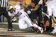 Nov 23, 2013; Corvallis, OR, USA; Washington Huskies running back Bishop Sankey (25) scores a touchdown against Oregon State Beavers in the first half at Reser Stadium. Mandatory Credit: Jaime Valdez-USA TODAY Sports