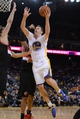 November 23, 2013; Oakland, CA, USA; Golden State Warriors power forward David Lee (10) shoots the ball against the Portland Trail Blazers during the fourth quarter at Oracle Arena. The Trail Blazers defeated the Warriors 113-101. Mandatory Credit: Kyle Terada-USA TODAY Sports