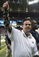 Nov 24, 2013; St. Louis, MO, USA; St. Louis Rams head coach Jeff Fisher gives the thumbs up to fans after defeating the Chicago Bears at the Edward Jones Dome. St. Louis defeated Chicago 42-21. Mandatory Credit: Jeff Curry-USA TODAY Sports