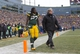 Nov 24, 2013; Green Bay, WI, USA; Green Bay Packers running back Eddie Lacy (27) walks to the locker room during overtime against the Minnesota Vikings at Lambeau Field.  The Vikings and Packers tied 26-26.  Mandatory Credit: Jeff Hanisch-USA TODAY Sports