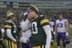 Nov 24, 2013; Green Bay, WI, USA;   Green Bay Packers quarterback Matt Flynn (10) walks off the field after the Packers and Minnesota Vikings finished in a tie 26-26 at Lambeau Field. Mandatory Credit: Benny Sieu-USA TODAY Sports