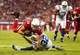 Nov 24, 2013; Phoenix, AZ, USA; Arizona Cardinals tight end Rob Housler (84) is tackled by Indianapolis Colts cornerback Cassius Vaughn in the second half at University of Phoenix Stadium. The Cardinals defeated the Colts 40-11. Mandatory Credit: Mark J. Rebilas-USA TODAY Sports