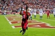 Nov 24, 2013; Phoenix, AZ, USA; Arizona Cardinals wide receiver Larry Fitzgerald (11) misses catching the ball as Indianapolis Colts defensive back Josh Gordy (27) defends during the second half at University of Phoenix Stadium. Mandatory Credit: Matt Kartozian-USA TODAY Sports