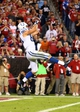 Nov 24, 2013; Phoenix, AZ, USA; Indianapolis Colts tight end Coby Fleener (80) catches a touchdown pass in the fourth quarter against the Arizona Cardinals at University of Phoenix Stadium. The Cardinals defeated the Colts 40-11. Mandatory Credit: Mark J. Rebilas-USA TODAY Sports