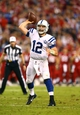 Nov 24, 2013; Phoenix, AZ, USA; Indianapolis Colts quarterback Andrew Luck throws a pass in the second half against the Arizona Cardinals at University of Phoenix Stadium. The Cardinals defeated the Colts 40-11. Mandatory Credit: Mark J. Rebilas-USA TODAY Sports