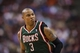 Nov 22, 2013; Philadelphia, PA, USA; Milwaukee Bucks forward Caron Butler (3) during the fourth quarter against the Philadelphia 76ers at Wells Fargo Center. The Sixers defeated the Bucks 115-107 in overtime. Mandatory Credit: Howard Smith-USA TODAY Sports