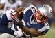 Nov 24, 2013; Foxborough, MA, USA; New England Patriots running back Shane Vereen (34) runs the ball against Denver Broncos outside linebacker Danny Trevathan (59) in the fourth quarter at Gillette Stadium. The New England Patriots defeated the Denver Broncos 34-31. Mandatory Credit: David Butler II-USA TODAY Sports