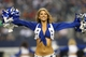Aug 24, 2013; Arlington, TX, USA; Dallas Cowboys cheerleader Katy Marie performs during a timeout from the game against the Cincinnati Bengals at AT&T Stadium. The Cowboys beat the Bengals 24-18. Mandatory Credit: Matthew Emmons-USA TODAY Sports