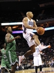 Nov 25, 2013; Charlotte, NC, USA; Charlotte Bobcats guard Gerald Henderson (9) looks to pass the ball during the second half of the game against the Boston Celtics at Time Warner Cable Arena. Celtics win 96-86. Mandatory Credit: Sam Sharpe-USA TODAY Sports