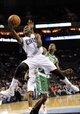 Nov 25, 2013; Charlotte, NC, USA; Charlotte Bobcats guard Kemba Walker (15) drives to the basket during the second half of the game against the Boston Celtics at Time Warner Cable Arena. Celtics win 96-86. Mandatory Credit: Sam Sharpe-USA TODAY Sports