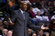 Nov 25, 2013; Auburn Hills, MI, USA; Milwaukee Bucks head coach Larry Drew reacts in the second quarter against the Detroit Pistons at The Palace of Auburn Hills. Mandatory Credit: Rick Osentoski-USA TODAY Sports
