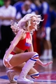 Nov 25, 2013; Auburn Hills, MI, USA; Detroit Pistons dancer performs during a time out against the Milwaukee Bucks at The Palace of Auburn Hills. Mandatory Credit: Rick Osentoski-USA TODAY Sports