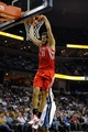 Nov 25, 2013; Memphis, TN, USA; Houston Rockets small forward Omri Casspi (18) dunks the ball against the Memphis Grizzlies during the fourth quarter at FedExForum. Houston Rockets beat the Memphis Grizzlies 93-86. Mandatory Credit: Justin Ford-USA TODAY Sports