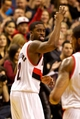 Nov 25, 2013; Portland, OR, USA; Portland Trail Blazers shooting guard Wesley Matthews (2) gestures after making a three point basket against the New York Knicks at the Moda Center. Mandatory Credit: Craig Mitchelldyer-USA TODAY Sports