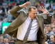 Nov 25, 2013; Salt Lake City, UT, USA; Chicago Bulls head coach Tom Thibodeau reacts to a call during the second half against the Utah Jazz at EnergySolutions Arena. The Jazz won 89-83 in overtime. Mandatory Credit: Russ Isabella-USA TODAY Sports
