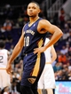 Nov 10, 2013; Phoenix, AZ, USA; New Orleans Pelicans shooting guard Eric Gordon (10) during the third quarter against the Phoenix Suns at US Airways Center. The Suns beat the Pelicans 101-94. Mandatory Credit: Casey Sapio-USA TODAY Sports