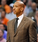 Nov 10, 2013; Phoenix, AZ, USA; New Orleans Pelicans head coach Monty Williams during the third quarter against the Phoenix Suns at US Airways Center. The Suns beat the Pelicans 101-94. Mandatory Credit: Casey Sapio-USA TODAY Sports