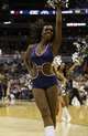 Nov 26, 2013; Washington, DC, USA; A Washington Wizards cheerleader dances on the court during a stoppage in play against the Los Angeles Lakers at Verizon Center. The Wizards won 116-111. Mandatory Credit: Geoff Burke-USA TODAY Sports