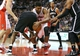 Nov 26, 2013; Toronto, Ontario, CAN; Toronto Raptors forward Rudy Gay (22) loses the ball as he goes to the basket against the Brooklyn Nets at Air Canada Centre. The Nets beat the Raptors 102-100. Mandatory Credit: Tom Szczerbowski-USA TODAY Sports