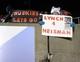 Nov 26, 2013; DeKalb, IL, USA; A NIU fan holds a sign after the game at Huskie Stadium. NIU defeats Western Michigan 33-14. Mandatory Credit: Mike DiNovo-USA TODAY Sports
