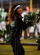 Nov 23, 2013; Denton, TX, USA; The North Texas Mean Green cheerleaders root for their team during the game against the UTSA Roadrunners at Apogee Stadium. The Roadrunners defeated the Mean Green 21-13. Mandatory Credit: Jerome Miron-USA TODAY Sports