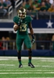 Nov 16, 2013; Arlington, TX, USA; Baylor Bears safety Terrell Burt (13) in the game against the Texas Tech Red Raiders at AT&T Stadium. Baylor beat Texas Tech 63-34. Mandatory Credit: Tim Heitman-USA TODAY Sports