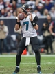 Nov 24, 2013; Houston, TX, USA; Jacksonville Jaguars quarterback Chad Henne (7) looks for an open receiver during the third quarter against the Houston Texans at Reliant Stadium. Mandatory Credit: Troy Taormina-USA TODAY Sports