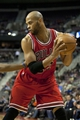 Nov 27, 2013; Auburn Hills, MI, USA; Chicago Bulls power forward Taj Gibson (22) holds the ball during the second quarter against the Detroit Pistons at The Palace of Auburn Hills. Mandatory Credit: Raj Mehta-USA TODAY Sports