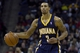 Nov 27, 2013; Charlotte, NC, USA; Indiana Pacers point guard George Hill (3) looks to pass the ball during the third quarter against the Charlotte Bobcats at Time Warner Cable Arena. Pacers won 99-74. Mandatory Credit: Joshua S. Kelly-USA TODAY Sports