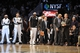Nov 27, 2013; Brooklyn, NY, USA; The Brooklyn Nets bench looks on against the Los Angeles Lakers during the second half at Barclays Center. The Lakers won 99-94. Mandatory Credit: Joe Camporeale-USA TODAY Sports