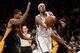 Nov 27, 2013; Brooklyn, NY, USA; Brooklyn Nets small forward Paul Pierce (34) drives the lane against the Los Angeles Lakers during the second half at Barclays Center. The Lakers won 99-94. Mandatory Credit: Joe Camporeale-USA TODAY Sports